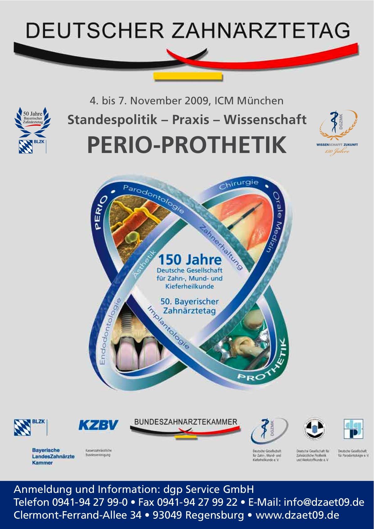 Deutscher Zahnärztetag vom 04. bis 09. November 2009 in München